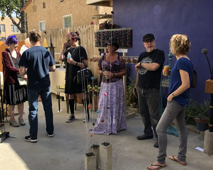 Dave Clark's exhibition in the Long Beach Open Studio Tour, 2019