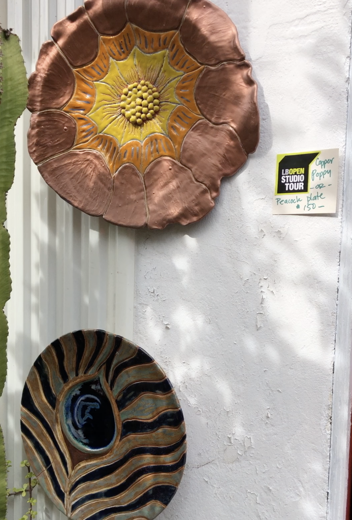 Ceramic wall pieces at Lisa Wibrow and Tina Burninght's studio.