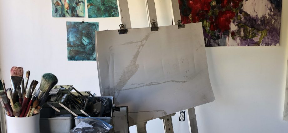 In the studio of Caryn Baumgartner